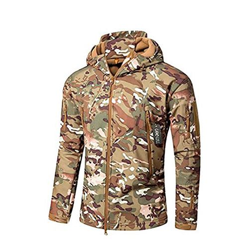 a17df06c4fd2d Camo Coll Men's Outdoor Soft Shell Hooded Tactical Jacket