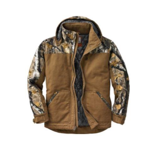 28b3492c49ba Legendary Whitetails Men s Canvas Cross Trail Big Game Camo Workwear Jacket.  1