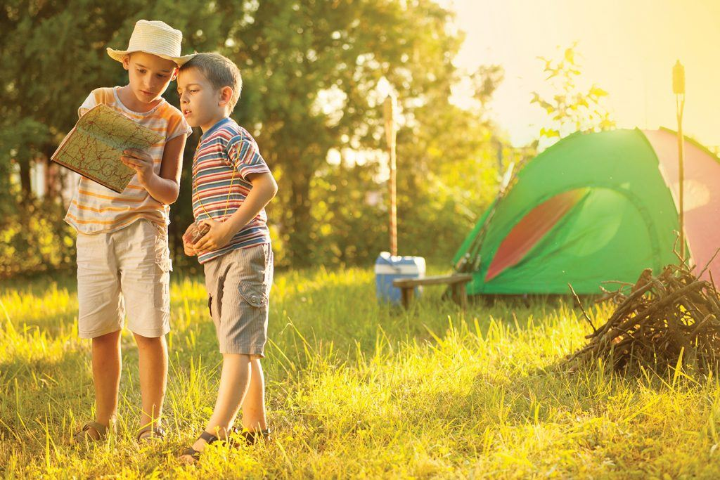 children and camping