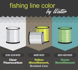 Fluorocarbon fishing line color
