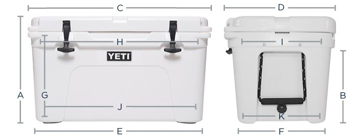sizes of a wheeled coolers