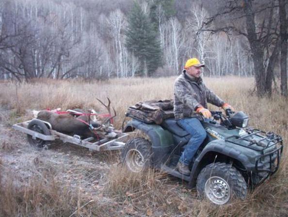 Using deer cart with an ATV