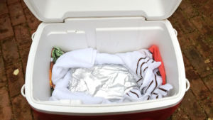 Place a Towel in the Cooler Before Placing Ice in